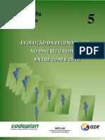 Evolução Da Fecundidade No DF 2000-2010