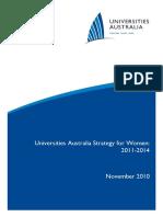 Universities Australia Strategy for Women 2011-2014