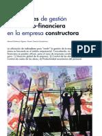 Indicadores de gestión económico-financiera en la empresa constructora