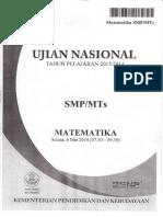 Naskah Soal UN Matematika SMP 2014 Paket 1.pdf