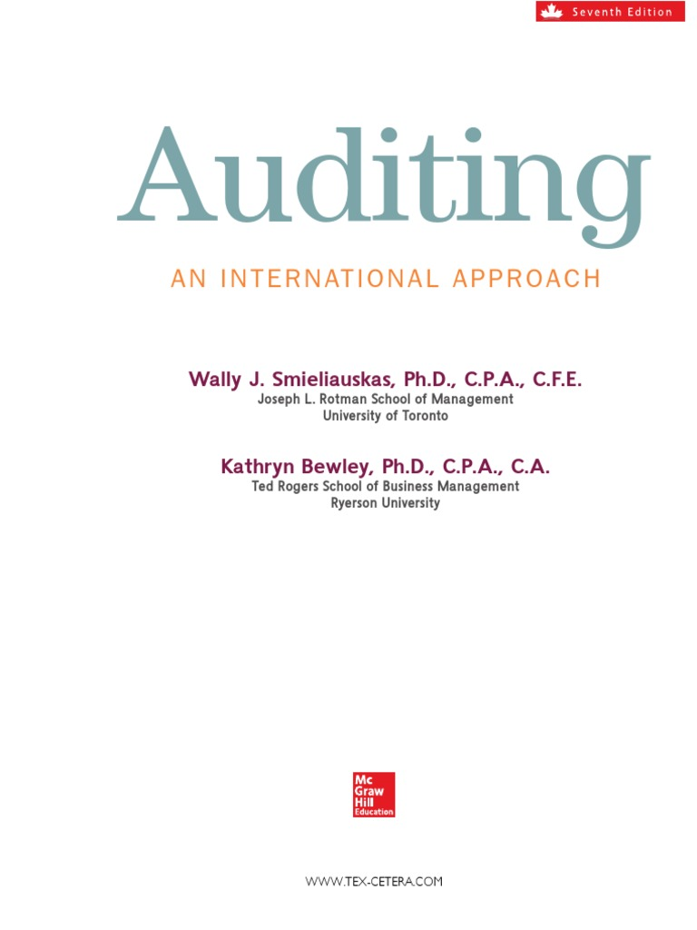 Auditing an international approach 7th canadian edition full auditing an international approach 7th canadian edition full textbook pdf auditors report audit fandeluxe Choice Image