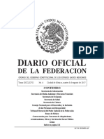 Diario oficial de la federación Mexicana