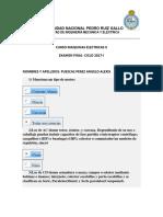 Examen Final Maquinas Electricas II Ciclo 2017-i