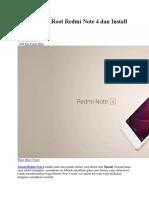 Cara Mudah Root Redmi Note 4 Dan Install TWRP