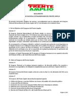 Reglamento Congreso Nacional Extraordinario FA 5-6 Diciembre 2015