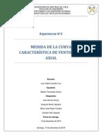 Medida de la curva característica de un ventilador axial