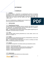 Manual Especificaciones Técnicas