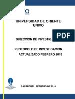 Protocol o Investigacion