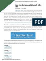 Membuka Proteksi Excel Yang Di Lock VBA