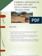Activida Minera Artesanal en La Cuencadel Rio Chira(Suyo,Paimas,Loma