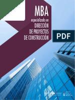 Master Mba Especializado en Direccion Proyectos Construccion