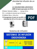 Cálculo de Velocidad de Infusión