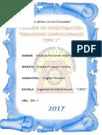ORACIONES CONDICIONALES TIPO 1