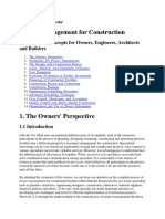 Project management for construction and civil engg.