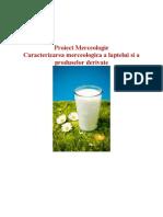 Caracterizarea Merceologica a Laptelui Si a Produselor Derivate