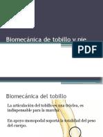 Biomecánica de Tobillo y Pie