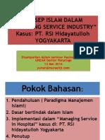 KONSEP ISLAM DALAM Managing Service Industri