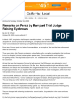 00-10-08 First Rampart Trial (2000) - Comments by Judge Jacqueline Connor Raise Eyebrows LA Times