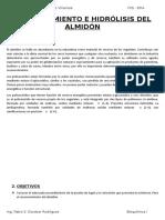 Reconocimiento e Hidrólisis Del Almidón