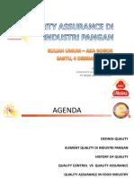 Quality Assurance Di Industri Pangan - Aka Bogor
