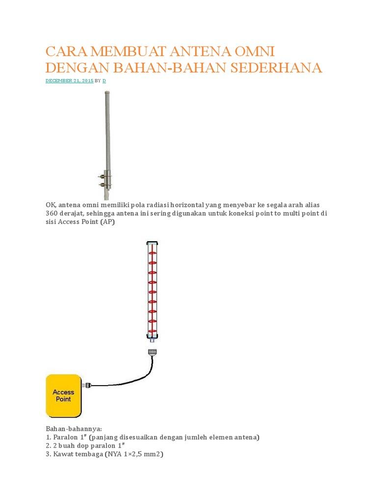 Cara membuat antena omni dengan bahan ccuart Gallery
