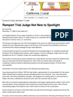 00-11-17 First Rampart Trial (2000) - Conduct of Rampart Judge Jacqueline Connor - Los Angeles Times
