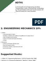 Part II-2. Engineering Mechanics (10%)