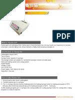 Brochure of Bio Filler Maker(Plasma Gel)
