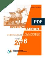 Statistik Daerah Kecamatan Loa Kulu 2016