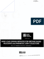 Wind Load Design Methods for Ground Based Heliostats and Parabolic Dish Collectors 1992