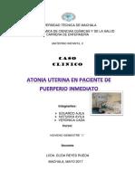 Caso Clinico Atonia Uterina en Paciente Preeclamptica