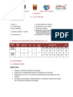 Plan de Seguridad en Caso de Sismo de La Ie 6033