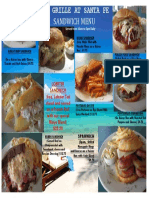 Grille Sandwiches Menu 20111217