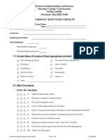Contractors Monthly Safety Audit Checklist