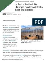 One Trump Border-wall Proposal is a Sheet of Plexiglass -