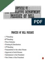 Article VI Bill Passage