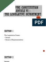 Article 6 Philippine Constitution