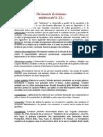 Diccionario de TВrminos Artбsticos S XX