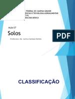 Geologia - 7 Aula - Classificação Dos Solos