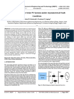 Control Scheme for Solar PV System under Asymmetrical Fault Condition