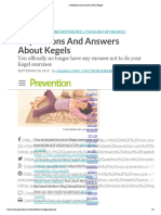 3 Questions and Answers About Kegels