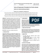 A Review on Application of Ergonomic Principles for Work related Injuries in Construction projects