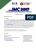 Acceptance of Abstract - AIMC 2017 - 33_Kariyono