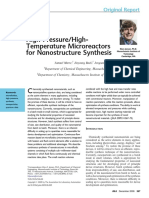 High-Pressure HighTemperature Microreactors for Nanostructure Synthesis