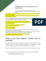 Object Oriented Design Ut