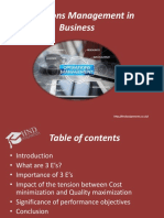Operations Management in Business