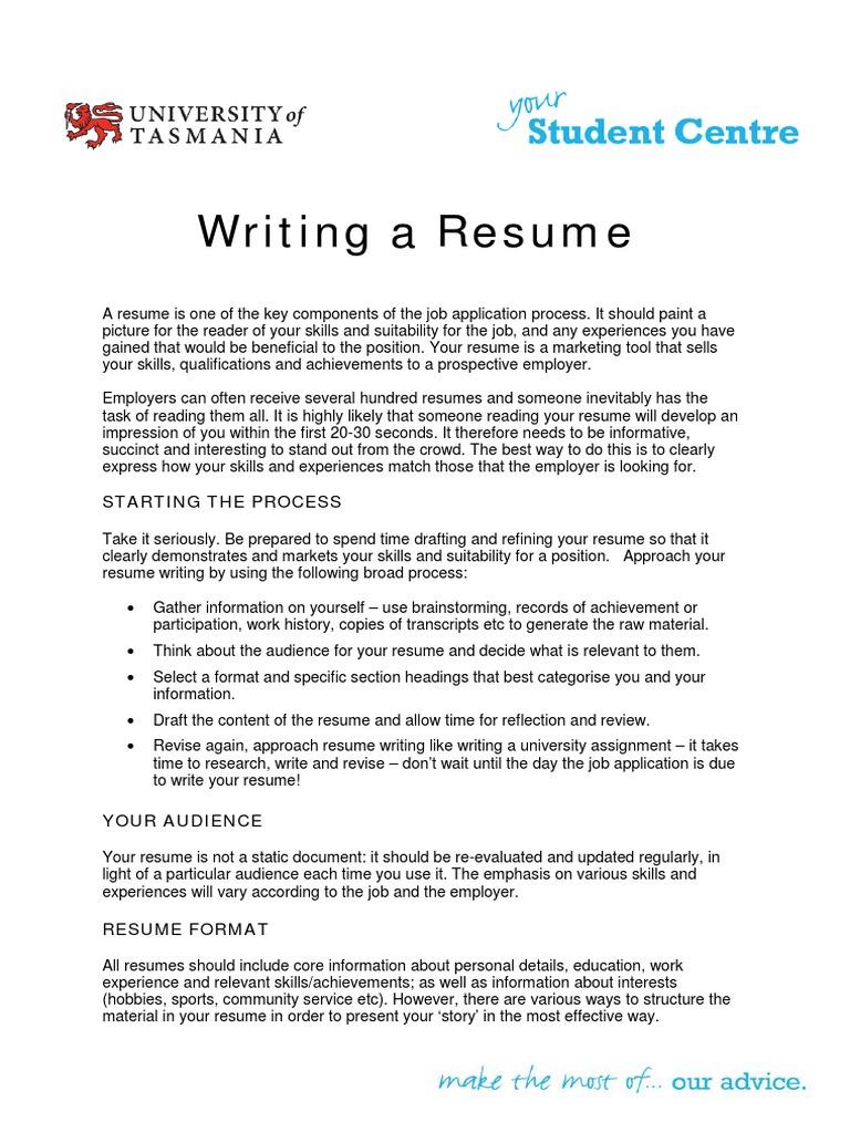 writing a resume pdf résumé communication