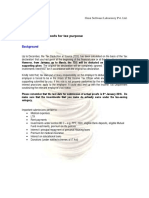 Background and FAQ Relating to the Submission of Proofs for Tax Purpose