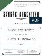 Justo T Morales - Sangre Argentina
