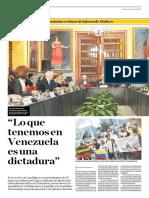 Lo Que Tenemos en Venezuela Es Una Dictadura
